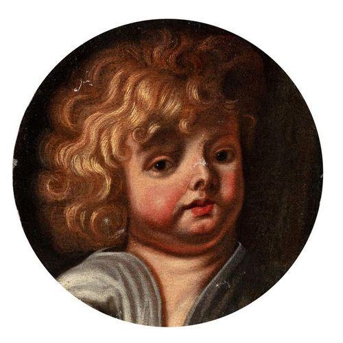 School FLAMANDE of the XVIIth century, workshop of Jacob JORDAENS Head of cherub…