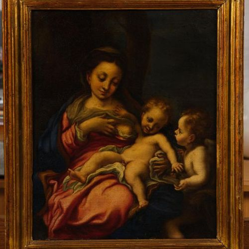 17th century ITALIAN school, from the CORRIGIOUS The Virgin and Child with Saint…