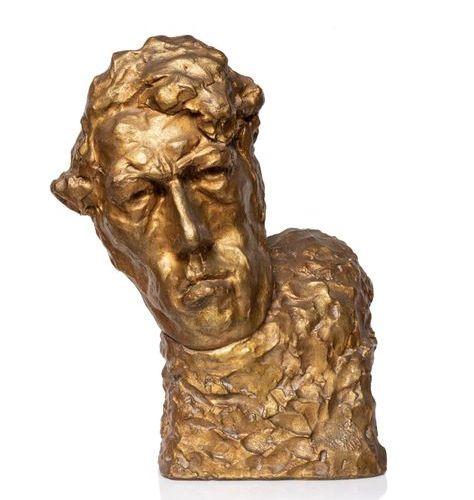 Reuven RUBIN (Galati 1893 – Tel Aviv 1974) Autoportrait Réalisé en 1920 Bronze à…
