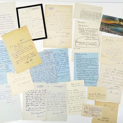 Literature Set of autographs of writers from the late 19th and early 20th centur…