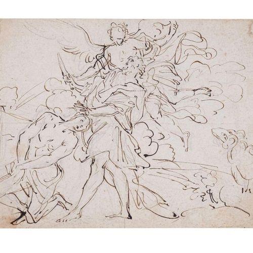 Attribué à Gregorio del FERRARI (Porto Maurizzio 1644 – Gênes 1726) Sacrifice d'…