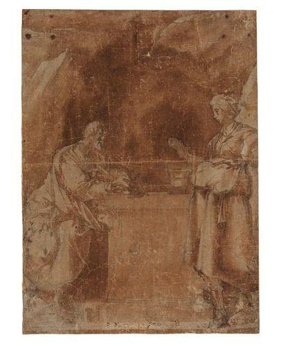 Attribué à Pier Francesco Mazzucchelli dit Il MORAZZONE (1573 1626) Le Christ et…