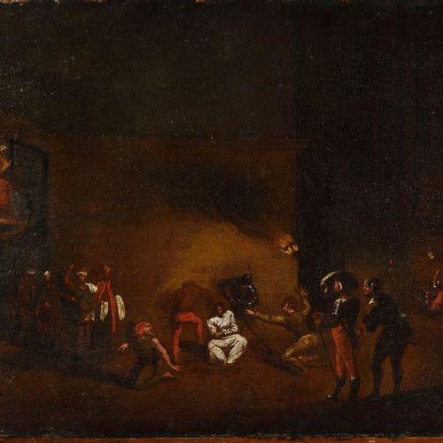 VENITIAN School of the 17th century, after Jacques CALLOT Le Christ aux outrages…