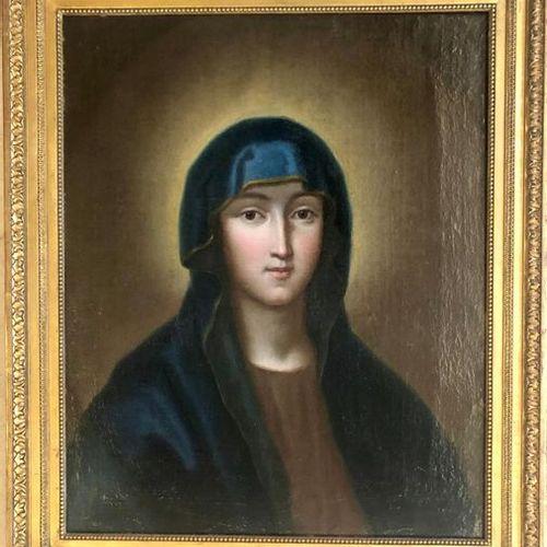 Ecole ITALIENNE de la fin du XVIIIème siècle La Vierge en extase Toile 50 x 41 c…