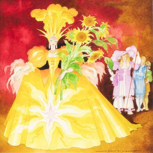 Jean Adrien MERCIER (1899 1995) La robe couleur du temps Aquarelle et traits de …