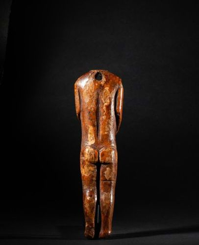 Headless statue with beautifully shaped forms, evoking a figure of imposing stat…
