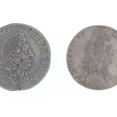 FRANCE Louis XIV Set of two silver tokens of the States of Brittany, one of Vitr…