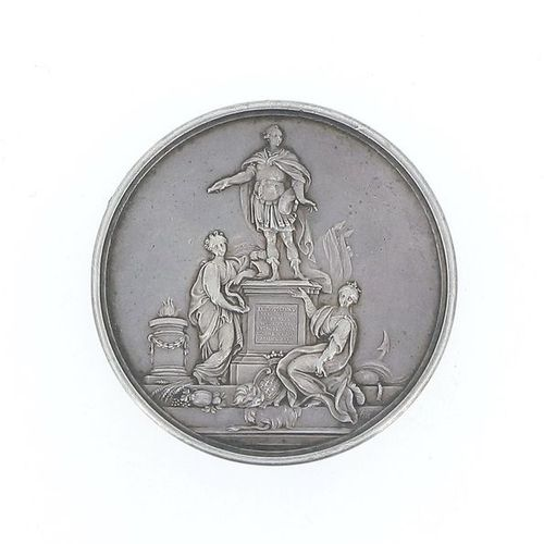 FRANCE Louis XV A Medal for the laying of the foundation stone of the statue of …