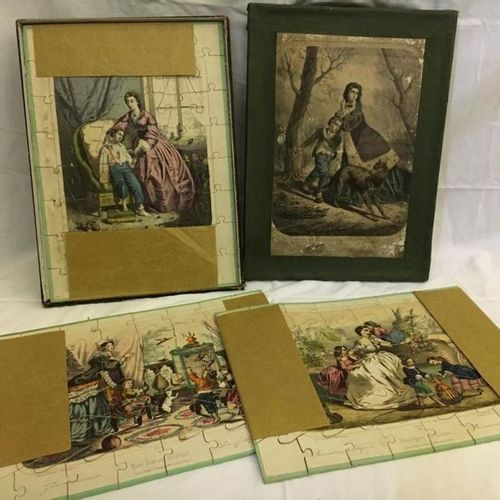 "LOT of 3 puzzles ""Wentzel"" editor in their original box. 44 x 32 cm"