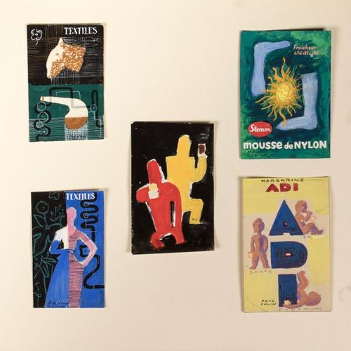 Paul COLIN (Nancy 1892 Nogent sur Marne 1985) Advertising poster projects 5 goua…