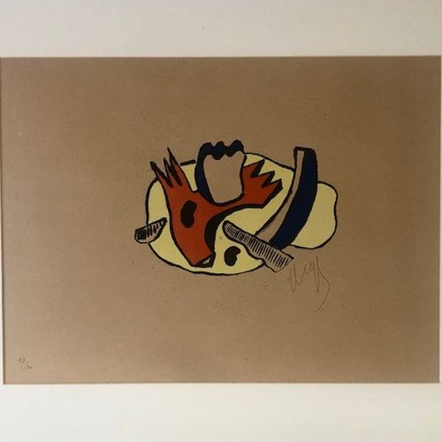 After Fernand LEGER The builders Lithograph signed lower right and numbered 37/5…