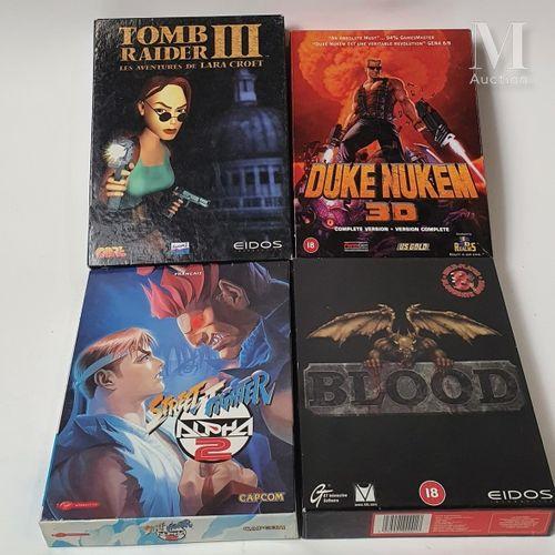 """PC PC  Lot de 4 jeux vidéo pour PC version """"Big Box""""  Versions françaises : Tomb…"""