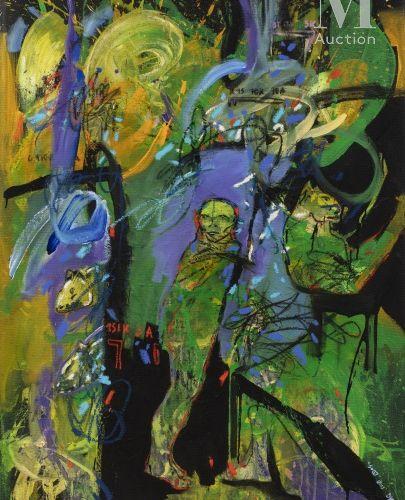 Soly Cisse (né en 1969) Rituel, 2013  Acrylique sur toile signée et datée en bas…