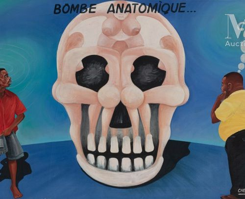 Cheri CHERIN (né en 1955) La bombe anatomique, 2004  Acrylique sur toile signée …