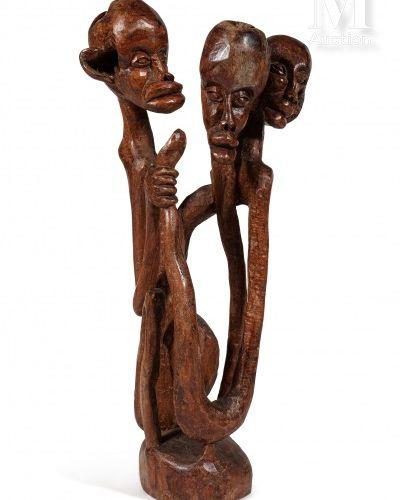 Alberto CHISSANO (1935 1994) Sans titre, 1979  Bois de sental, sculpture signée …