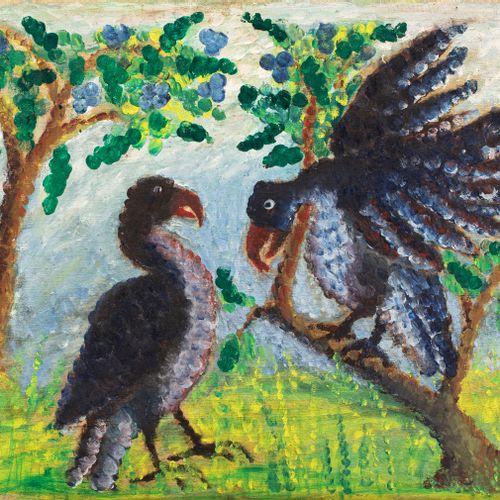 BELA (1920 1968) Parade d'oiseaux  Huile sur toile signée en bas à droite  45 x …