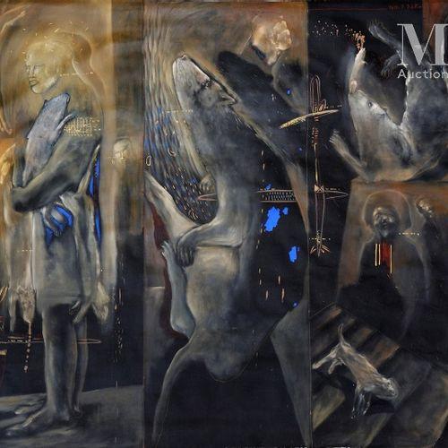 Soly Cisse (né en 1969) Complicité, 2007  Acrylique sur toile signée et datée en…