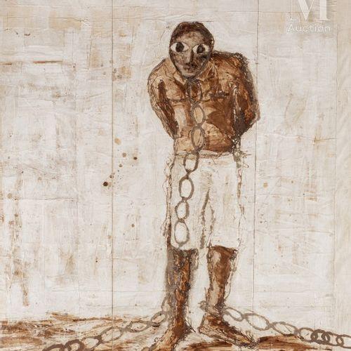 Mohamed DIABATE (CEKO NIHCKASSON) (né en 1964) L'homme en chaîne, 2006  Techniqu…