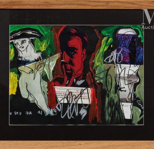 Soly Cisse (né en 1969) Hommage à Andy Warhol, 2015  Acrylique, pastel et collag…