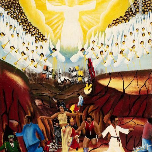 Pierre BODO (1953 2015) Apocalypse 6:12 17, Le Grand Jour, 1981  Huile sur toile…