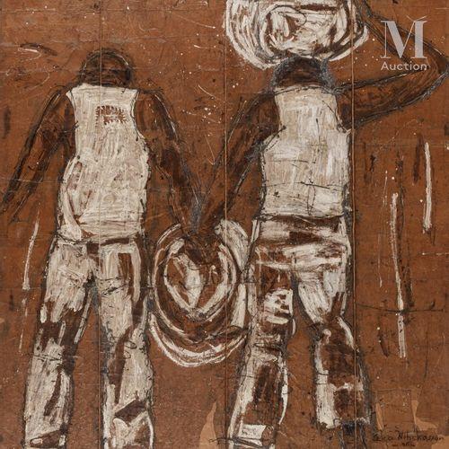 Mohamed DIABATE (CEKO NIHCKASSON) (né en 1964) Exil, 2006  Technique mixte (huil…