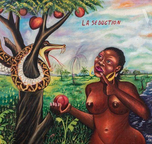 MOKE (1950 2001) La séduction, circa 1992  Huile sur toile signée en bas à droit…