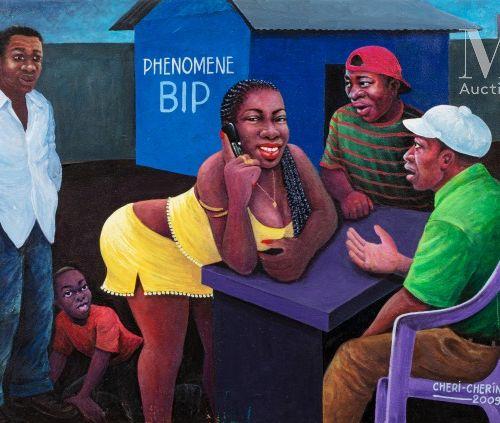 Cheri CHERIN (né en 1955) Phenomène Bip, 2009  Huile sur toile signée et datée e…