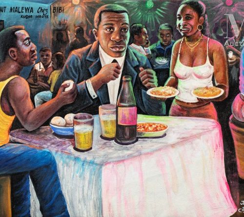 JP Mika (né en 1980) Restaurant Malewa chez Bibi, 2008  Acrylique sur toile sign…