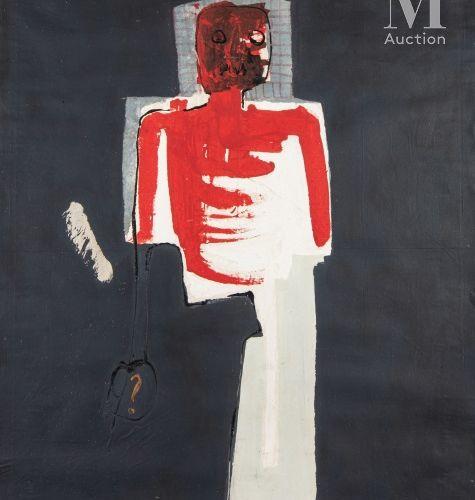 Amadou SANOGO (né en 1977) Sans titre, 2013  Acrylique sur toile signée et datée…