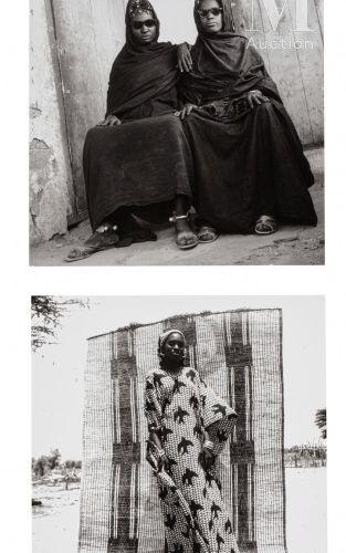 Oumar LY (1943 2016) Portraits de brousse (2)  Photographie, ensemble de deux ti…
