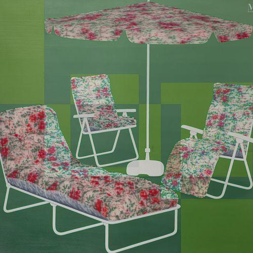 Dan HAYS (né en 1966) Field and Garden, 1999  Huile sur toile signée, datée et t…