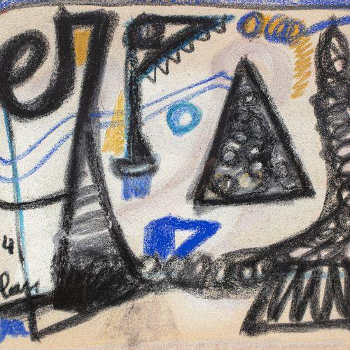 Jean Michel Atlan (1913 1960) Sans titre, 1954  Pastel sur papier signé et daté …