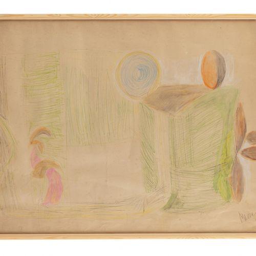 Jean MESSAGIER (1920 1999) La vallée, 1949 1950  Crayon et crayon gras sur papie…