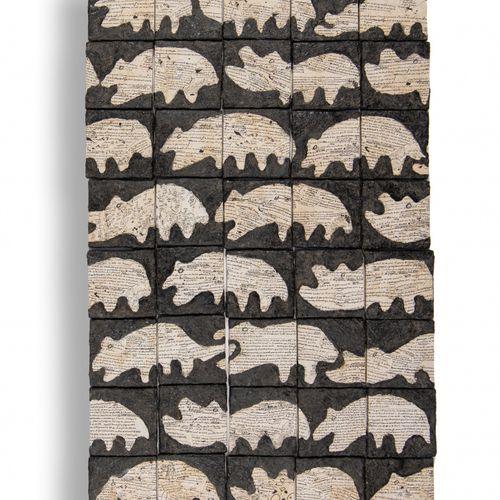 JEAN LUC PARANT (NÉ EN 1944) Sans titre  Résine et collage de papier sur panneau…