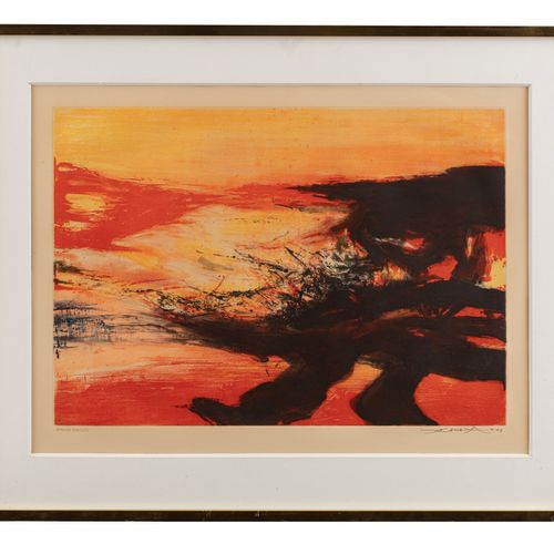 Zao WOU KI (né en 1921) Sans titre, 1974  Eau forte et aquatinte, épreuve d'arti…