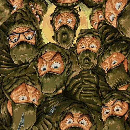 MARTIN BIGUM (NÉ EN 1966) Terrified Surgeons, 2003  Huile sur toile signée, daté…