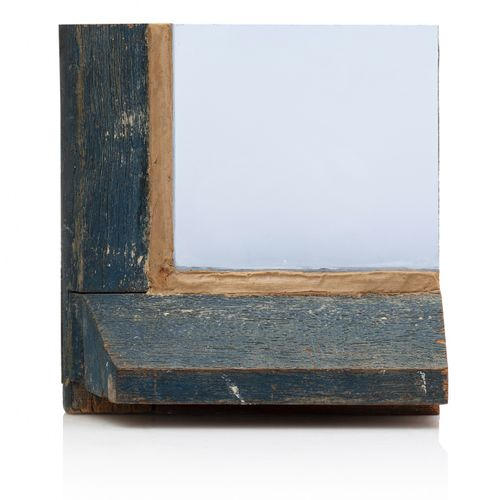 Pierre BURAGLIO (né en 1939) Sans titre, circa 1980  Verre et bois  18,5 x 18 x …
