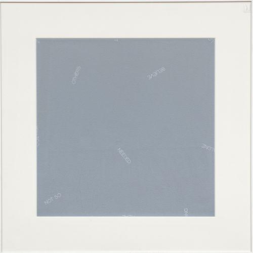Robert BARRY (né en 1936) Sans titre, 1989  Acrylique sur papier signé, daté et …
