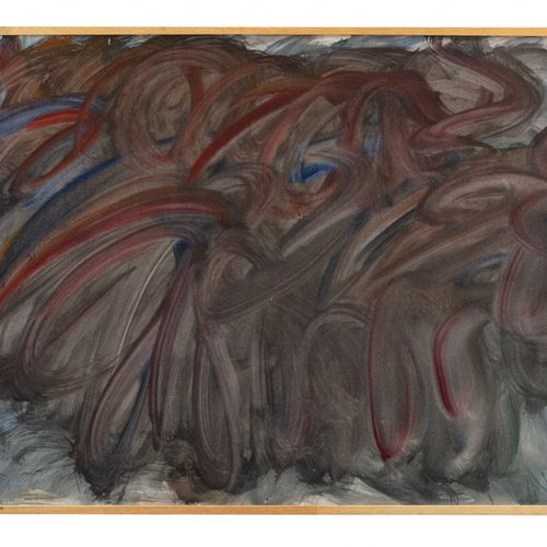 Jean MESSAGIER (1920 1999) Composition  Lavis d'encre sur papier signé en bas à …