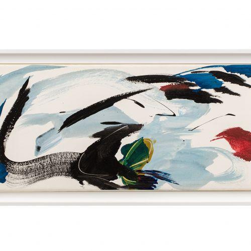 Jean MIOTTE (1926 2016) Sans titre, circa 1990  Acrylique sur papier, marouflé s…