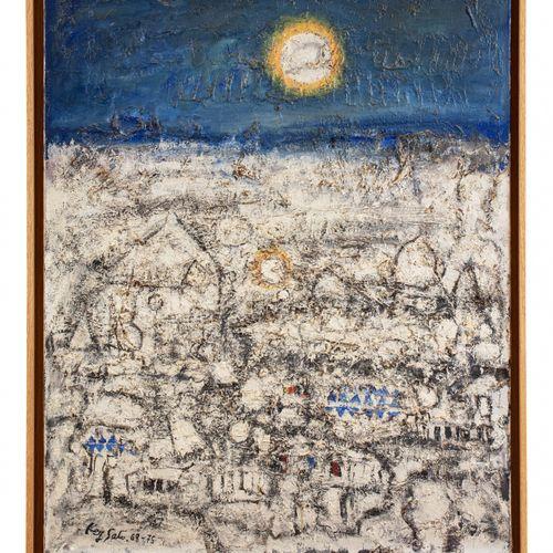 Key SATO (1906 1978) Terre figée, 1968 1975  Huile sur toile signée et datée en …
