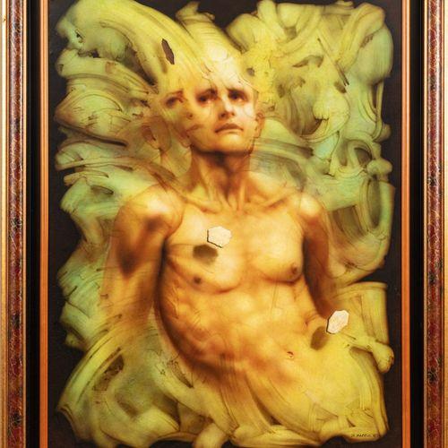 Gérard di MACCIO (Né en 1938) Double visage  Huile sur toile signée en bas à dro…