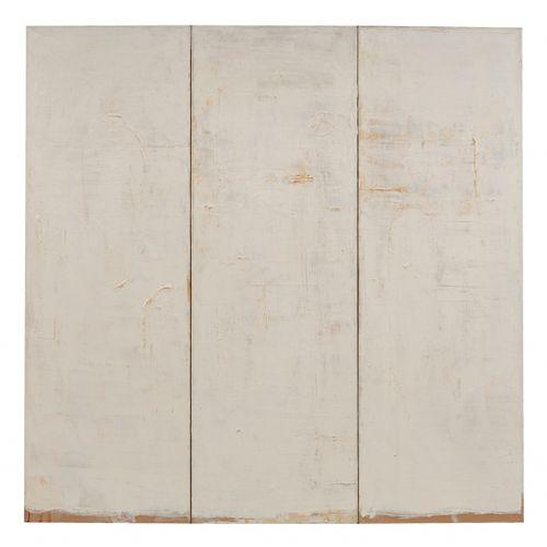Piero Pizzi CANNELLA (né en 1955) Bianco Trittico, 1997  Huile sur toile, tripty…