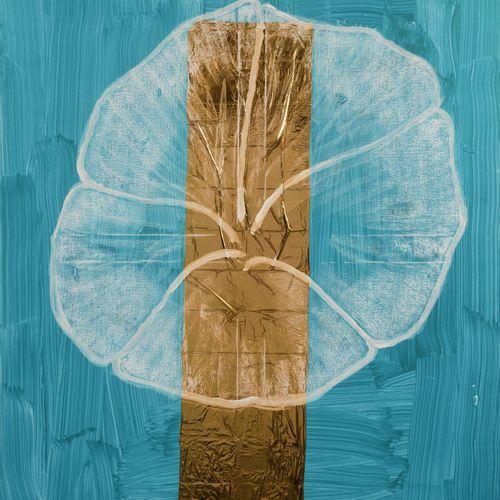 Jean Michel MEURICE (né en 1938) Bartok turquoise, 2017  Acrylique, pastel gras …