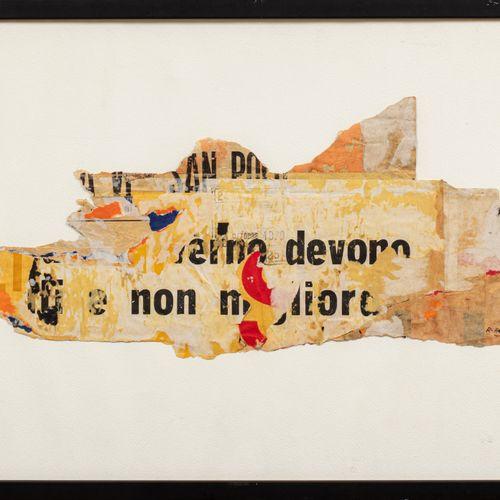 Raymond Hains (1926 2005) Sans titre, 1970  Arrachage, composition signée et dat…