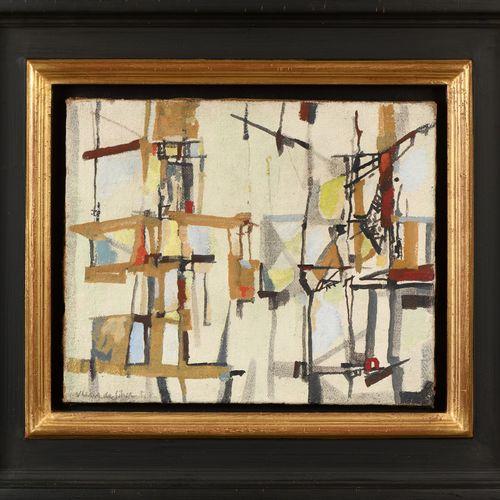 MARIA HELENA VIEIRA DA SILVA (1908 1992) Composition, 1951  Huile sur toile sign…