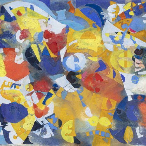 Joe DOWNING (1925 2007) Composition  Gouache sur papier signé en bas à droite  2…