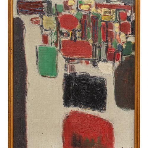 CORNEILLE (1922 2010) A proximité de la mer, 1958  Huile sur toile signée et dat…