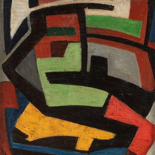 Gerard SCHNEIDER (1896 1986) Opus 342, 1947  Huile sur panneau signé et daté en …