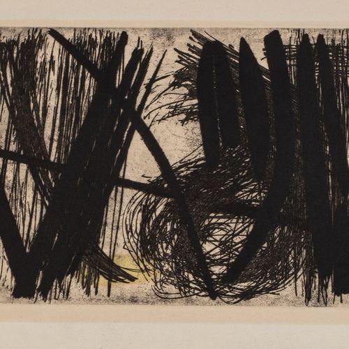 Hans HARTUNG (1904 1989) G 4, 1953  Eau forte et aquatinte, épreuve signée et nu…